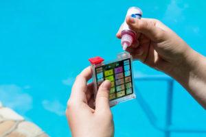 Amphialos swimming pool water test analysis Pafos Cyprus